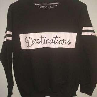 Sweatshirt Hitam Cotton One