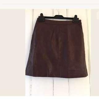 Topshop burgundy skirt