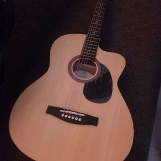 RJ acoustic guitar with built-in tuner