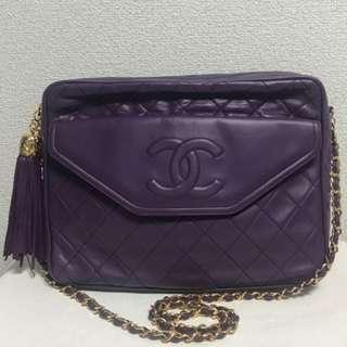 Chanel Vintage 紫色手袋