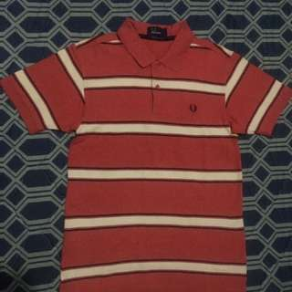 Fred Perry Pink Stripes Poloshirt
