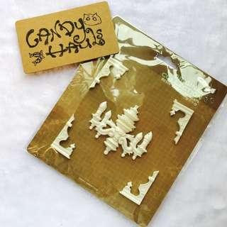 Brand new in packaging chandelier resin scrapbook pieces
