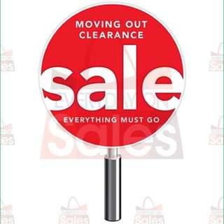 Moving out clearance sale