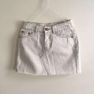 Denim white skirt