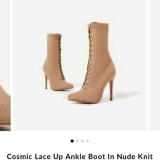 Missguided lace up boots