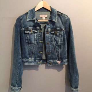 GUESS Cropped Denim Jacket XS