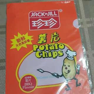 珍珍薯片 A4 size folder