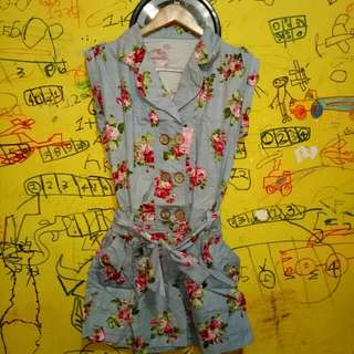 JUMPSUIT CELANA PENDEK OWN PRELOVED GOOD CONDITION SIZE : M