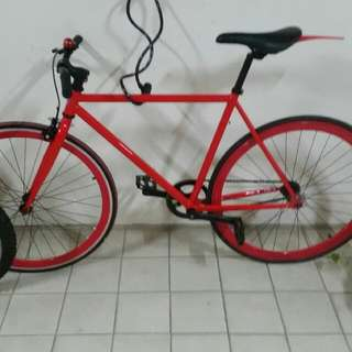 Red fixie(FIXED GEAR)