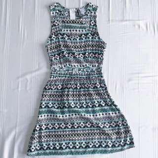 H&M Tribal Cutout Dress