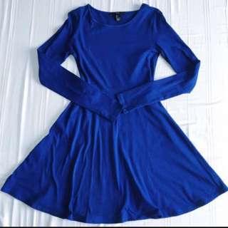 Forever 21 Blue Long sleeve Dress