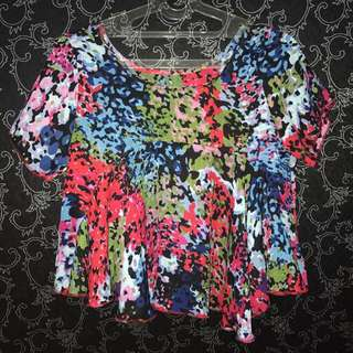 Baju Wanita, Lengan Pendek, Croptop
