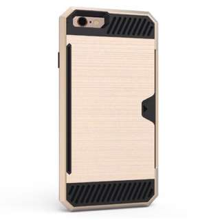 Apple iPhone 5 Shock Proof Gold Double Case with Card Slot