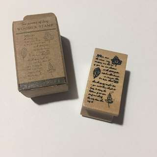 Wooden stamp/Rubber stamp