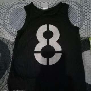 Orig H&m Black No. 8 Muscle Sando