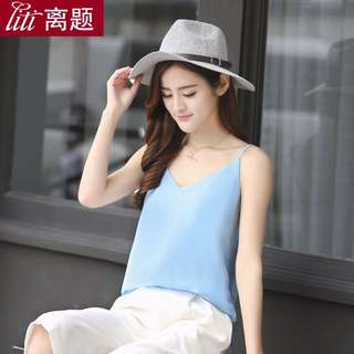 Baby blue cami top