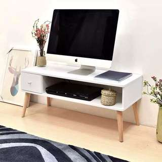 White TV Rack Modern Home Furniture