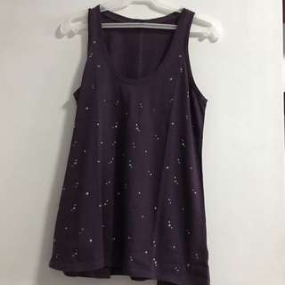Gap purple sleeveless