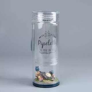 龍貓玻璃水樽