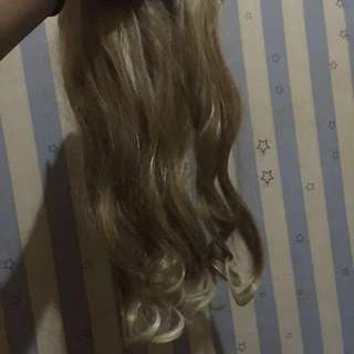 Hairclip sombre blonde