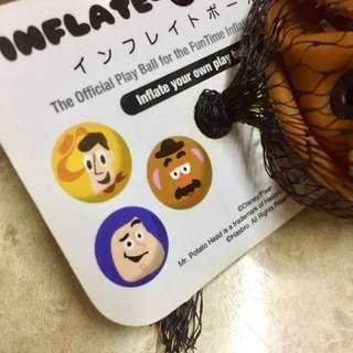 日本Toy Story反斗奇兵薯蛋頭先生充氣皮球