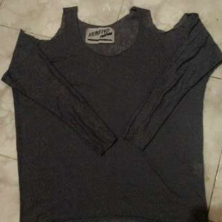 Top Grey Size Fit To L