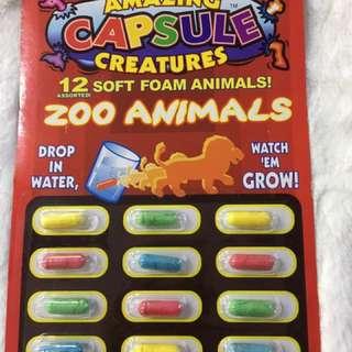 Capsule animals ( dinosaur, farm, fish)