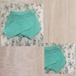 Teal Origami Shorts
