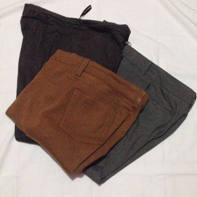 3 pcs trousers/celana panjang