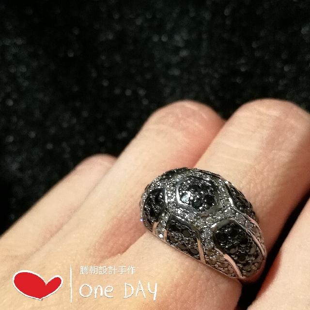 925純銀鑲鋯石個性時尚戒指