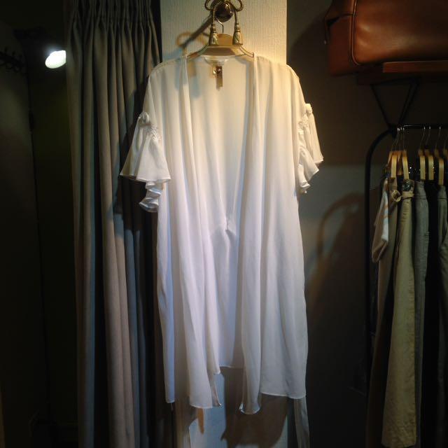 椿花二手衣-秋天好朋友之雪紡長罩衫
