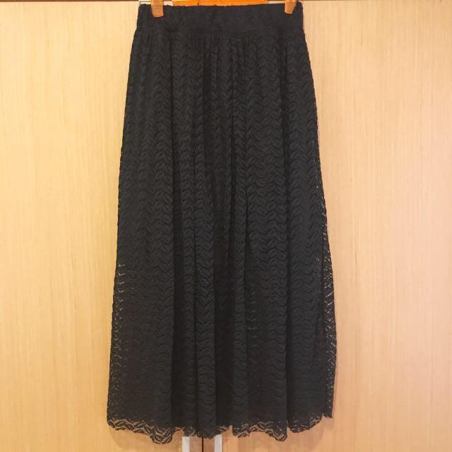長裙 蕾絲 有內襯
