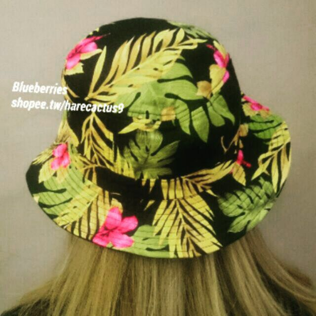 #含運最划算 🌺夏威夷 扶桑花 雙面 漁夫帽 素面 帽子