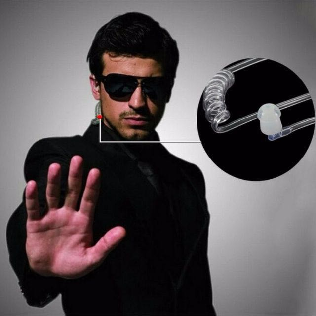 ★★  Air Tube Stereo Earphone Intelligent Switching Multifunctional Anti Radiation Headset ★★  Cool secret agent look alike earpiece specially for Cosplay secret agent wanabe ★★