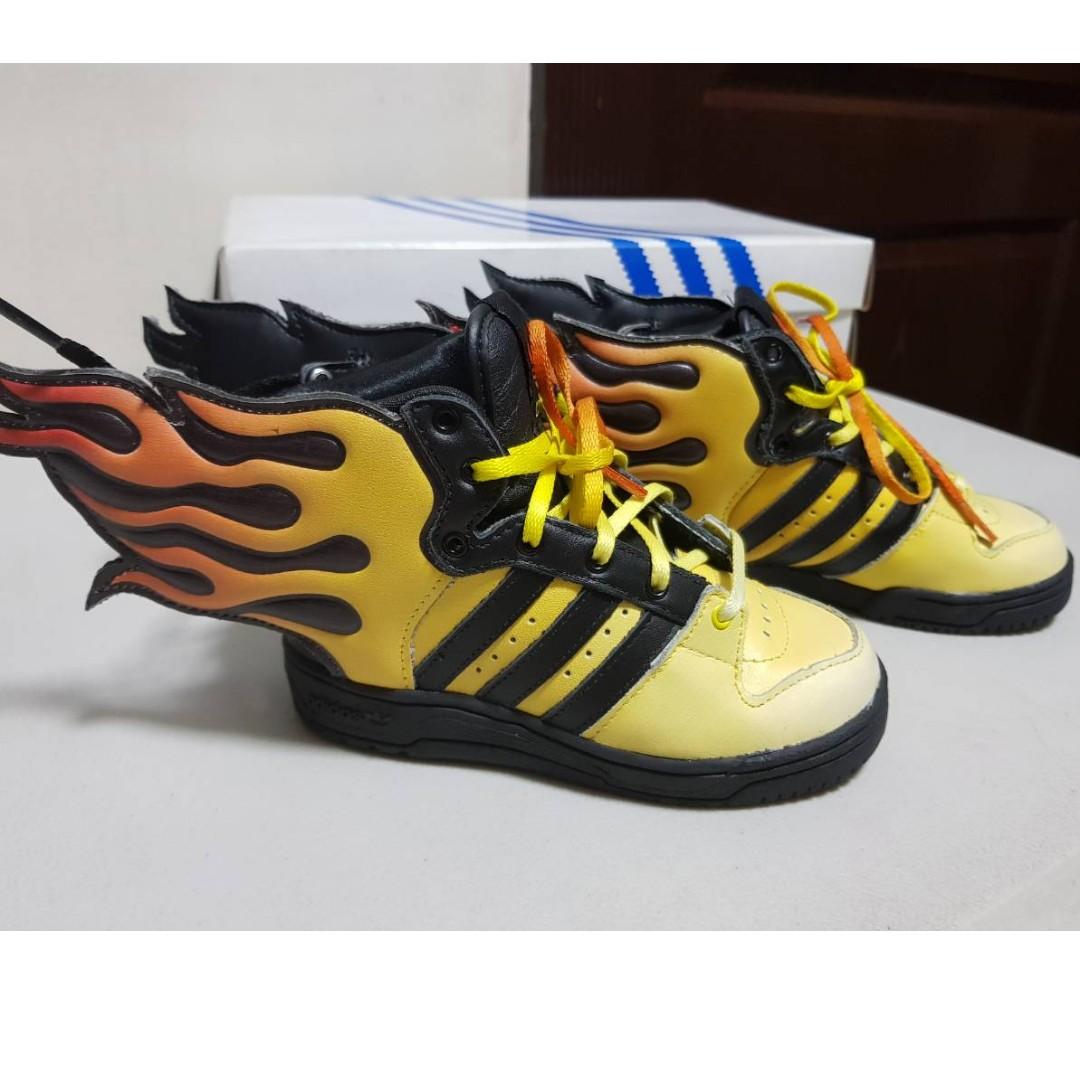 separation shoes f544b 43d56 Adidas Originals Jeremy Scott Wings JS Flames Kids Shoes D65987, Babies    Kids, Cots   Cribs on Carousell