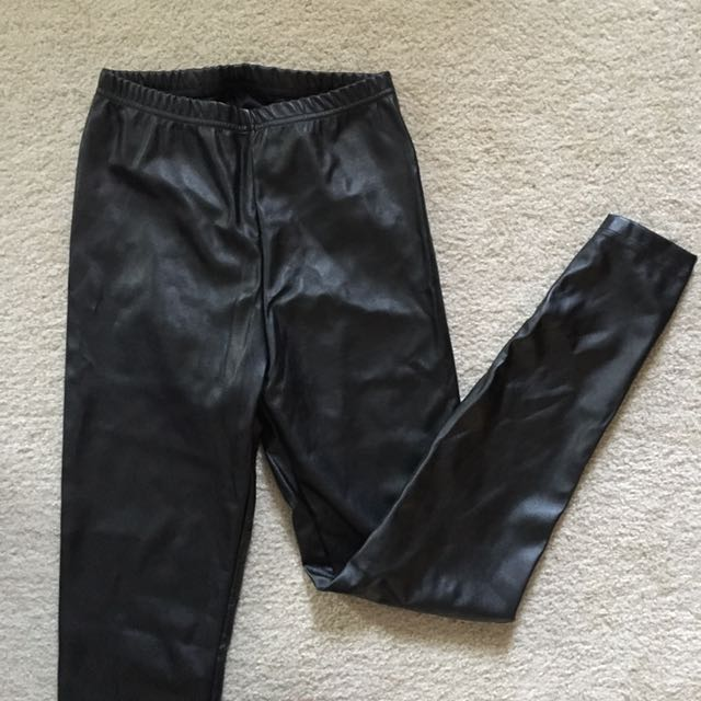 American Apparel faux leather leggings size M