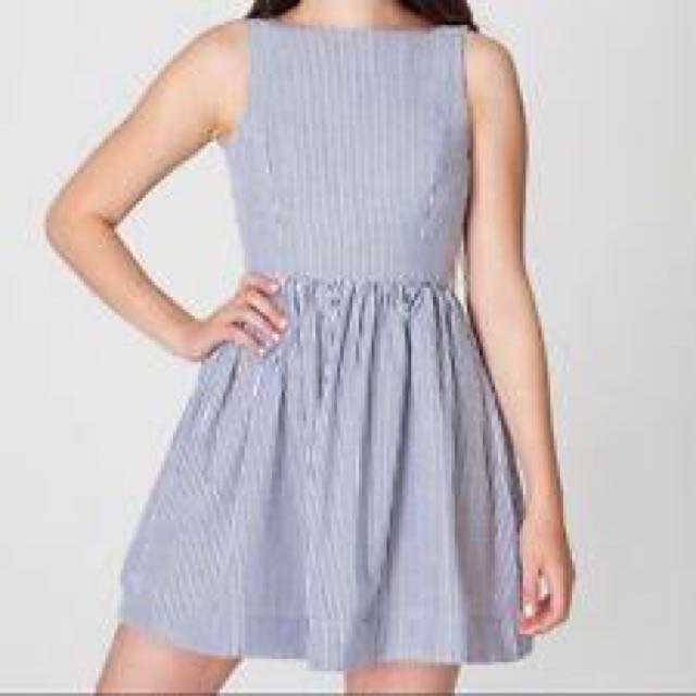 American Apparel Striped Sheersucker Dress