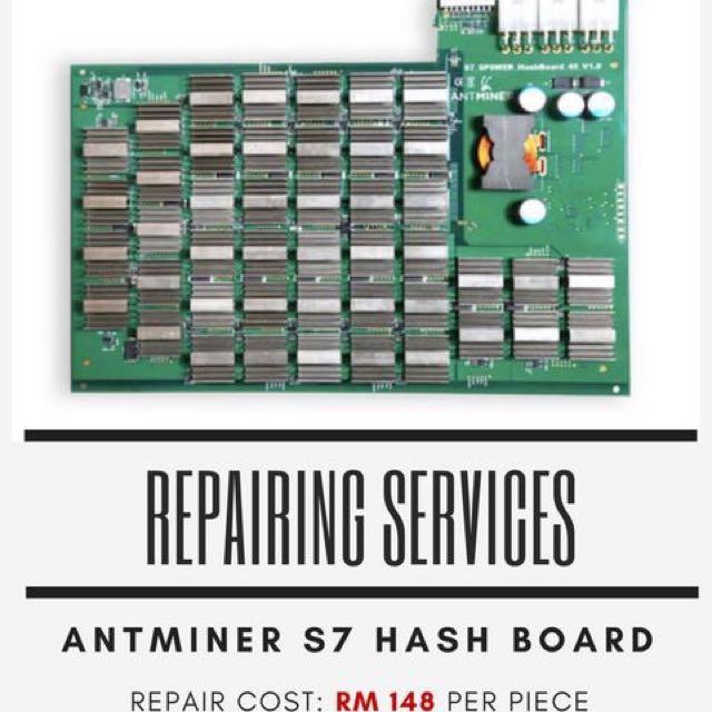 Antminer S7 Hash Board Repairing