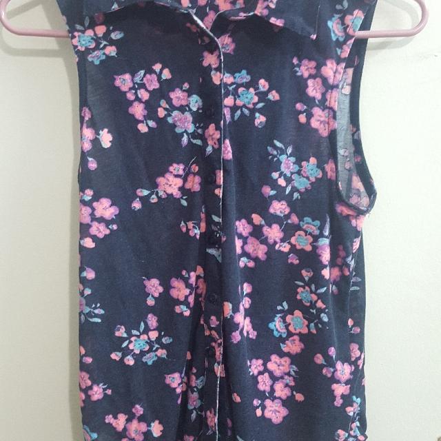 ardene sleeveless floral top