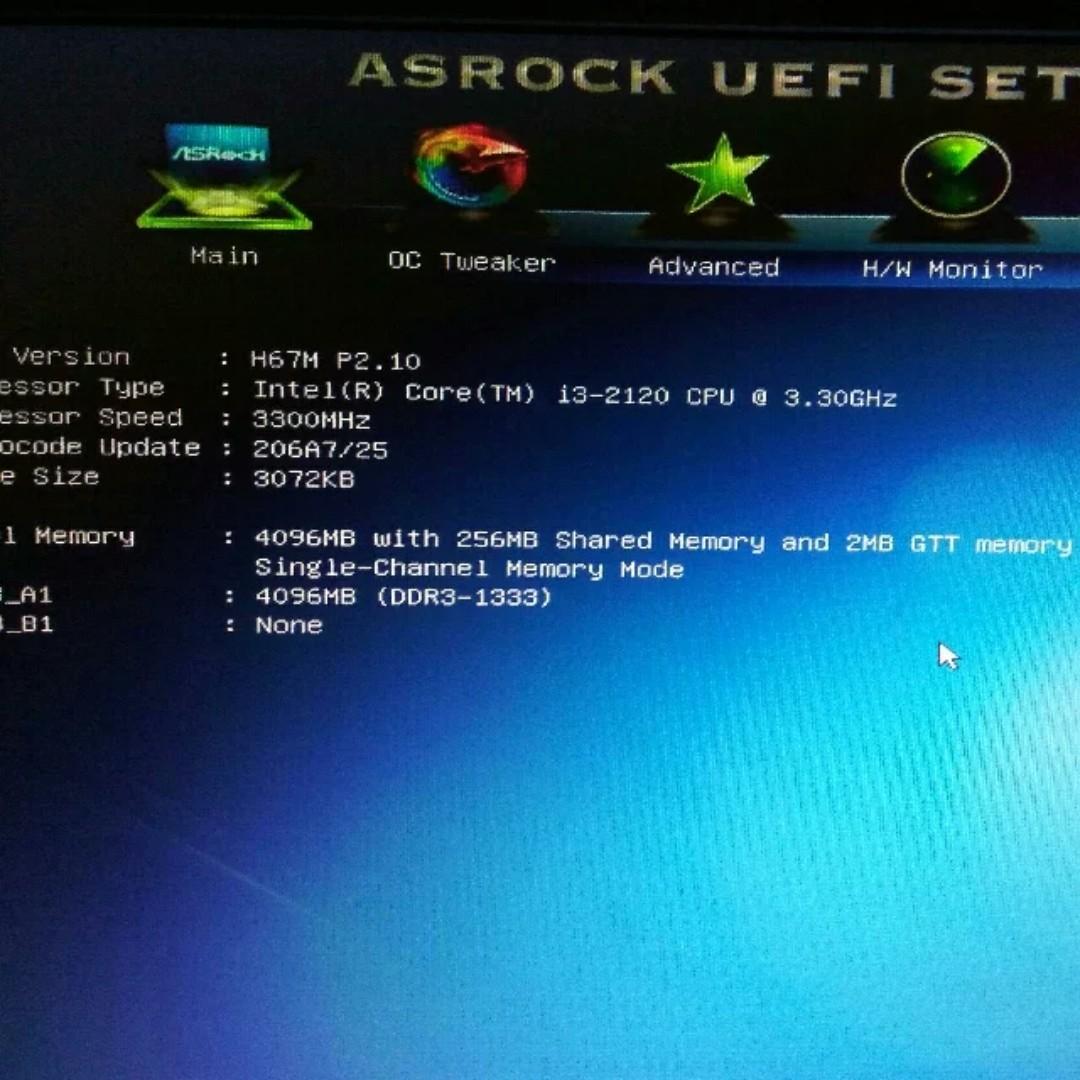 ASROCK H67M + I3-2120 CPU