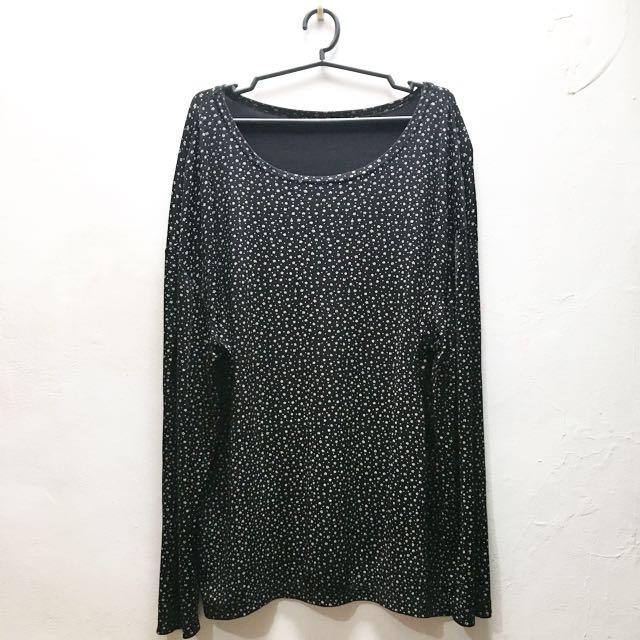 Black Floral Pullover