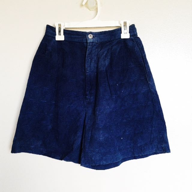 Blue Shorts (Dogtooth Pattern)