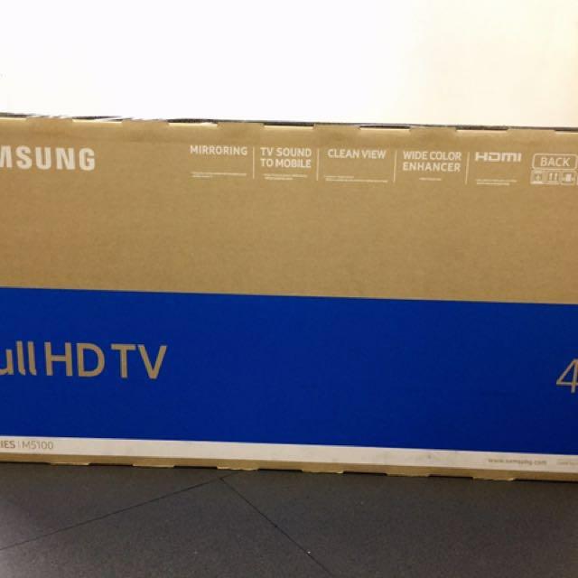 """BRAND NEW Samsung 40"""" Full HDTV 5 Series M5100"""