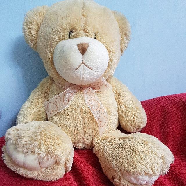 Brown bear soft toy