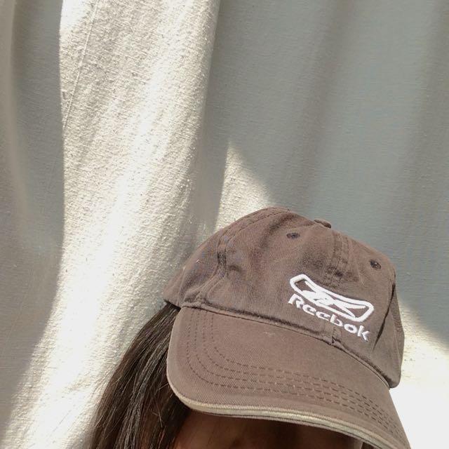 Brown Reebok hat