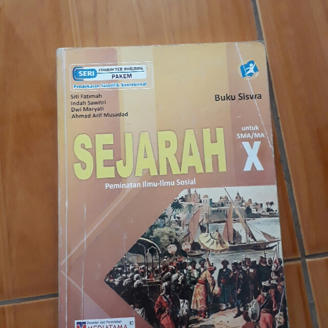 Buku Paket Sejarah Minat Kelas X