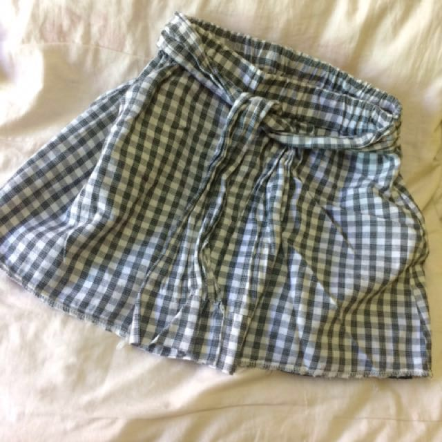 Checkered Shorts+Skirt