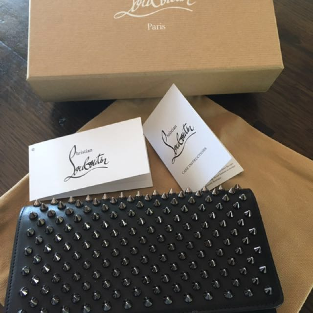Christian Louboutin large spiked wallet