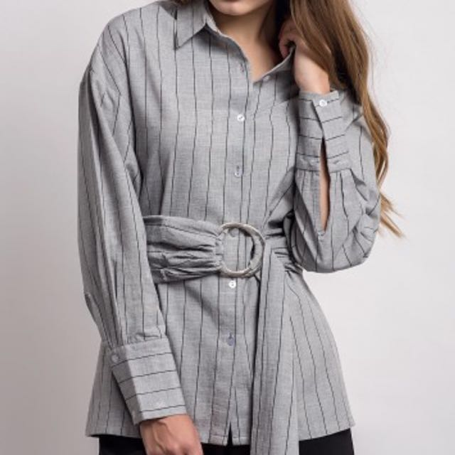 CLOTH INC Tied Belted Shirt (Kemeja)