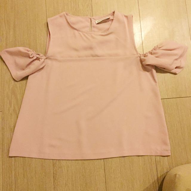 Cotton ink pink top